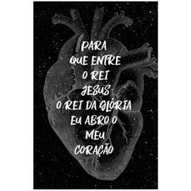 Quadro Decorativo Personalizado A4 | Eu Abro Meu Coração