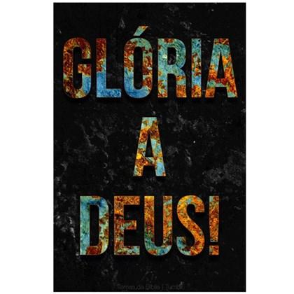 Quadro Decorativo Personalizado A4   Glória a Deus