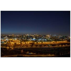 Quadro Decorativo Personalizado A4 | Jerusalém a Noite