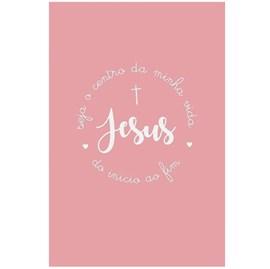 Quadro Decorativo Personalizado A4 | Jesus Lettering