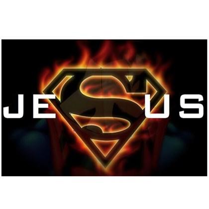 Quadro Decorativo Personalizado A4   Jesus meu Herói