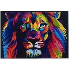 Quadro Decorativo Personalizado A4 Lion Color