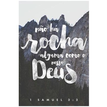 Quadro Decorativo Personalizado A4   Não a Rocha Alguma Como Nosso Deus