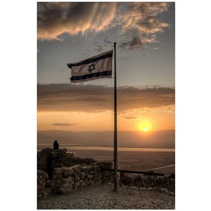 Quadro Decorativo Personalizado A4   Por do Sol em Israel