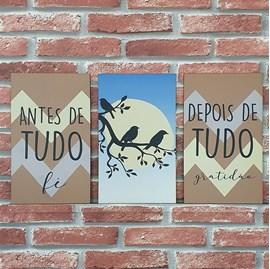 Quadros Mosaico Antes de Tudo, Depois de Tudo | A5 | UV