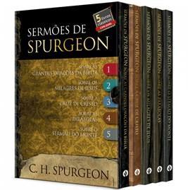 Sermões de Spurgeon   Box com 5 Livros   Capa Dura